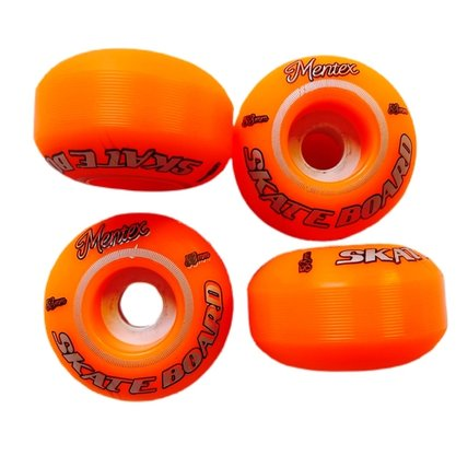 Roda Mentex Skateboard 53mm Laranja Neon