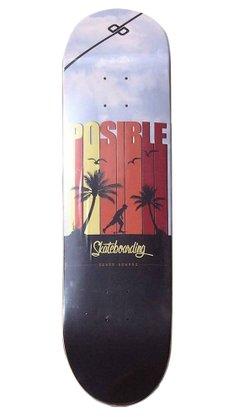 Shape Posible Marfim Skateboarding 8.0 Multicores