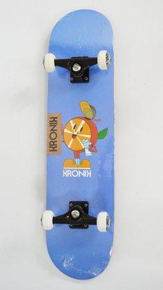 Skate Montado Kronik Orange Azul Claro