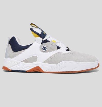 Tênis Dc Shoes Kalis Imp Branco/Cinza/Amarelo