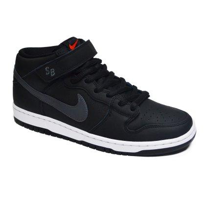 Tênis Nike SB Dunk Mid Pro Iso Preto/Chumbo/Branco