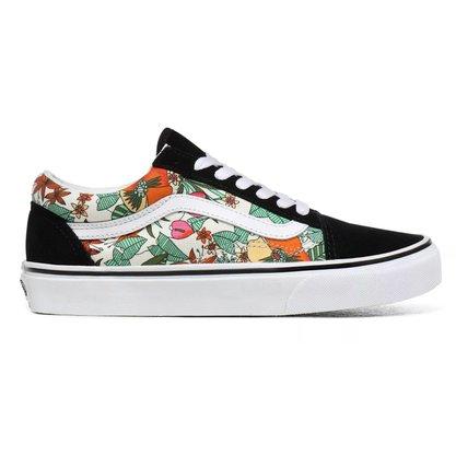 Tênis Vans Old Skool Preto/Floral