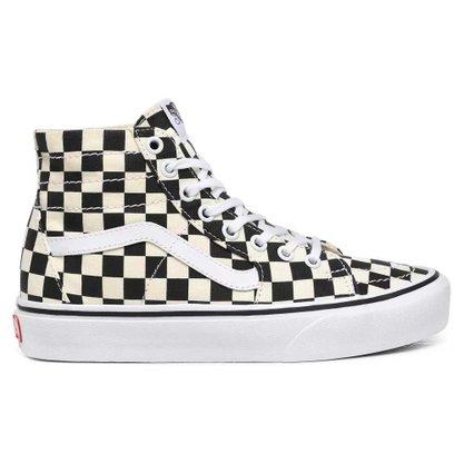 Tênis Vans Sk8-HI Tapered Checkerboard Preto/Branco