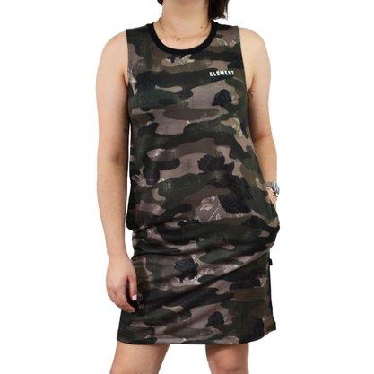 Vestido Element True Tank Preto/Camuflado
