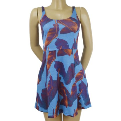 Vestido Free Surf Foliage Azul