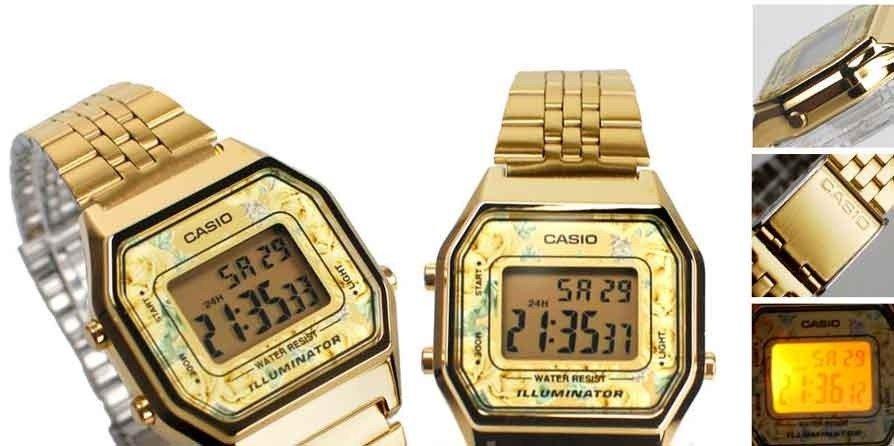 80c4d27f57 Relógio Casio Vintage LA680WGA-9CDF Dourado - Gord s House