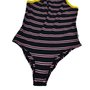 Body Vans Lizzie Stripes Preto/Rosa