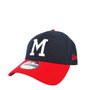 Boné Masculino New Era Milwaukee Braves MLB Azul Marinho
