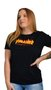 Camiseta Baby Look Thrasher Flame Logo Preto