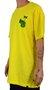 Camiseta Drop Dead Borda Amarelo