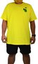 Camiseta Drop Dead Borda Big Amarelo