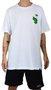 Camiseta Drop Dead Borda Branco