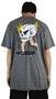 Camiseta Drop Dead Skull Skater Mescla Escuro