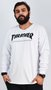 Camiseta Manga Longa Thrasher Skate Mag Branco