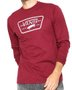 Camiseta Manga Longa Vans Full Patch Vinho