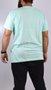 Camiseta Santa Cruz Classic Dot Chest Verde Água
