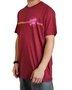 Camiseta Santa Cruz Opus Dot Stripe Fade Bordô