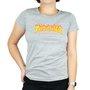 Camiseta Thrasher Flame Logo Mescla Claro