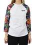 Camiseta Vans Nursey Raglan Branco/Floral