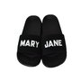 Chinelo Mary Jane Slide MJ Logo Preto