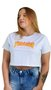 Cropped Thrasher Flame Logo Branco