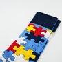 Meia Phante Socks Quebra-Cabeça Azul