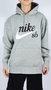 Moletom Canguru Nike SB Logo Mescla Claro