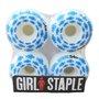 Roda Girl Skateboards 54mm Branco/Azul